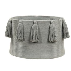 Franjas (Tassels) Cinza 30 x 45 x 45 cm