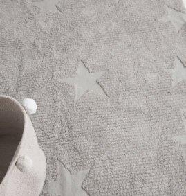 Estrelas Hippy Cinza 120 x 175 cm