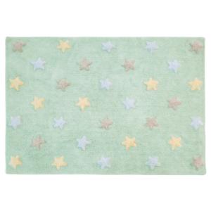 Estrelas Tricolor Menta 120 x 160 cm