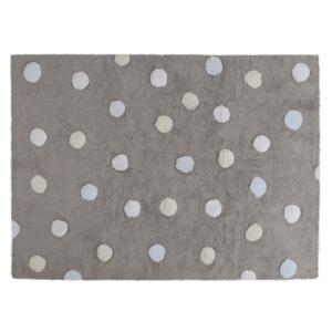 Topos Tricolor Cinza – Azul 120 x 160 cm
