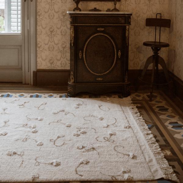 C GARDEN IVO 2 600x600 - Tapete lavavel Garden Marfim 210 x 140 cm