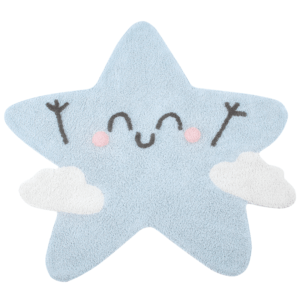 Tapete lavavel Happy Star 120 x 120 cm