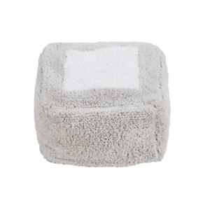 Puff Marshmallow cinza perolado 30 x 39 x 18 cm