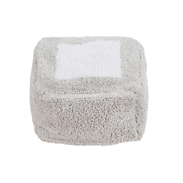 P MALLOW PGR 1 600x600 - Puff Marshmallow cinza perolado 30 x 39 x 18 cm