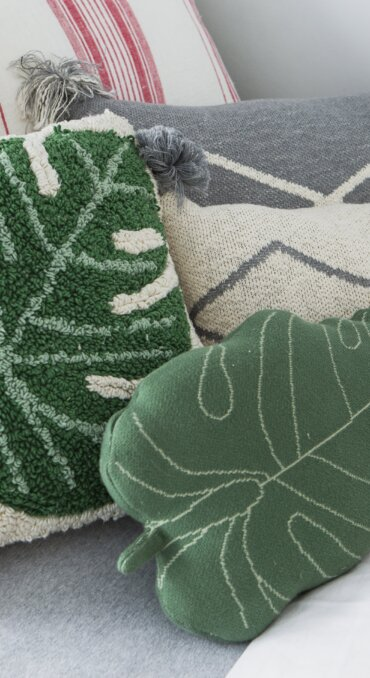 Almofada Folha 28 x 42 cm