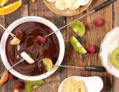 Fondue de chocolate para curtir os dias de frio!